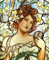 CHAMPAGNE Glasmalerei