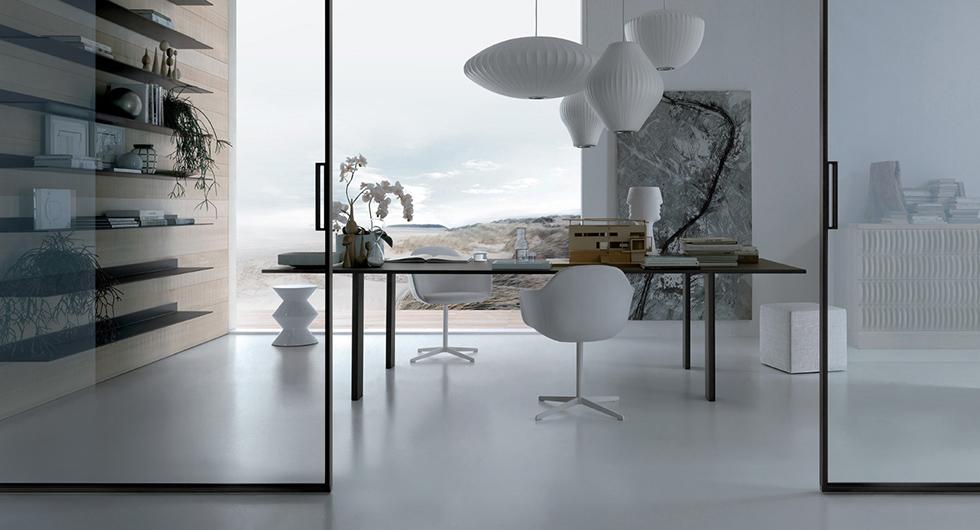 Tisch Tabula von Rimadesio - exklusiver Stil. Diese Designer-Tische sind vollkommen demontierbar ohne sichtbare Schrauben.