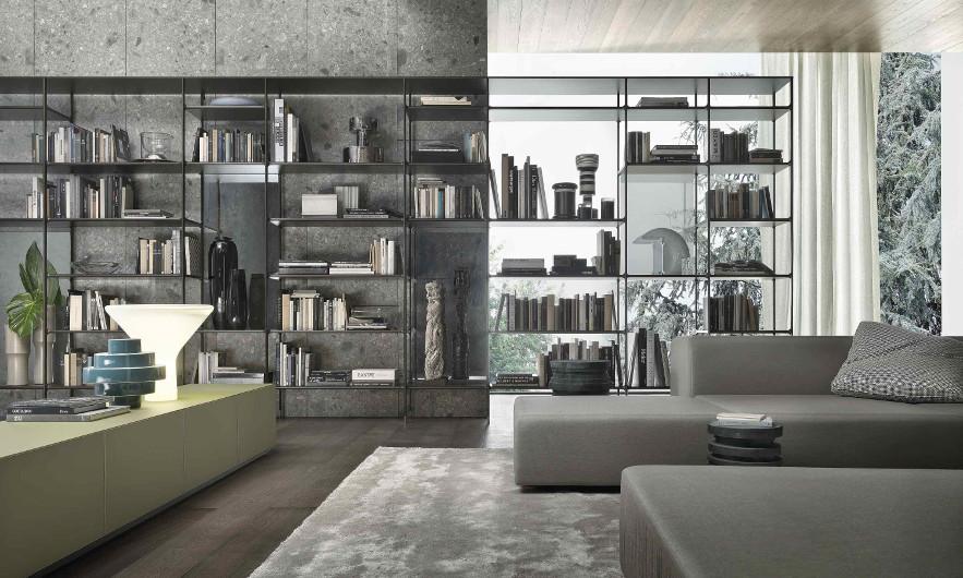 Bild-Eigentümer: Rimadesio SpA, Wind, modulares Bücherregal, Einrichtungsvariante, Design by Giuseppe Bavuso