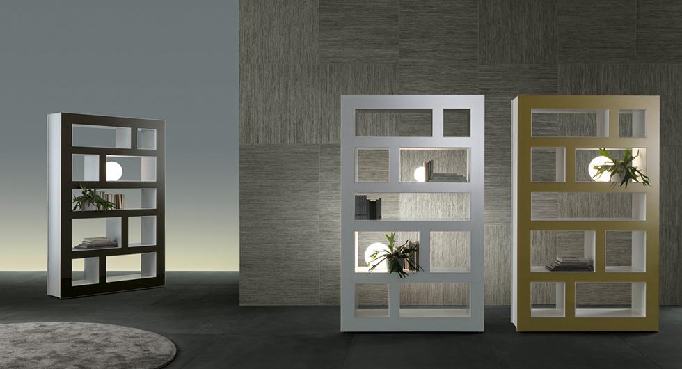 Stele frei stehendes regal raumteiler von rimadesio berlin glas - Rimadesio mobili ...