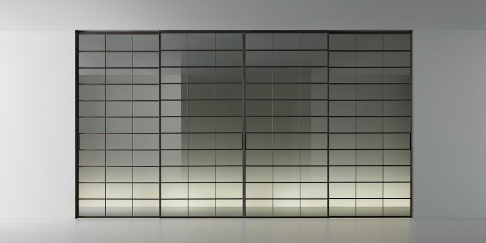 Soho - Glasschiebetür von Rimadesio - geschlossen