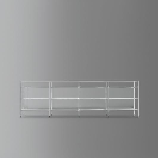 Bild-Eigentümer: Rimadesio SpA, Wind, modulares Bücherregal, freistehende Variante, Design by Giuseppe Bavuso