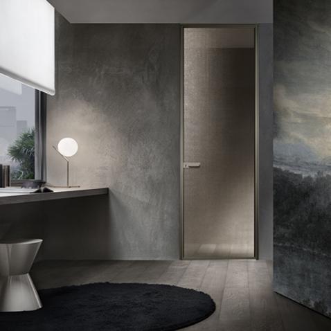 Zen Design Glastür von Rimadesio, Einbaubeispiel