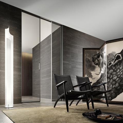 Zen Design Glastür von Rimadesio