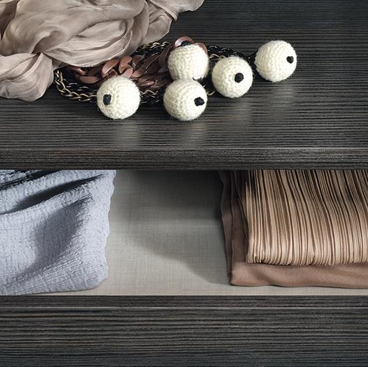 Ankleidesystem Dress Bold von Rimadesio - Begehbarer Schrank: Schubladen