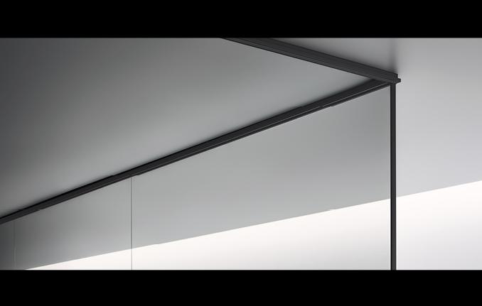 Spazio - Details des Glas-Architektursystems von Rimadesio - Raum-in-Raum-Lösung