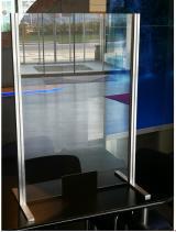 Tresenschutz aus Glas