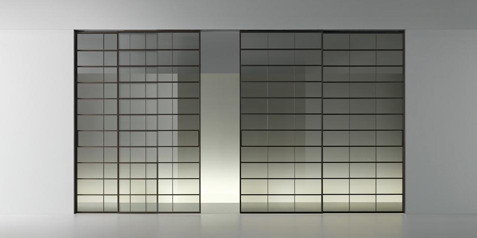 Soho - Glasschiebetür von Rimadesio - offen