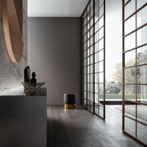 Soho - Glasschiebetür von Rimadesio