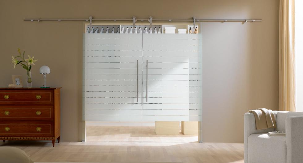 Glas-Schiebetür, zweiflügelig