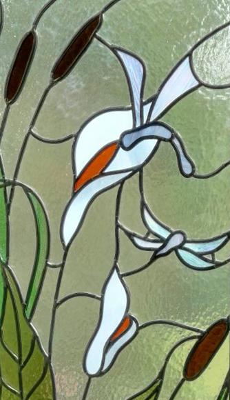 Libellen Bleiverglasung