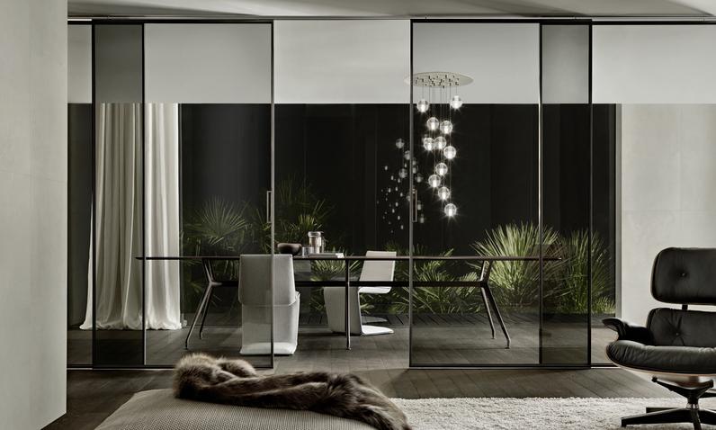 Velaria - fein gerahmte Glas-Schiebetüren