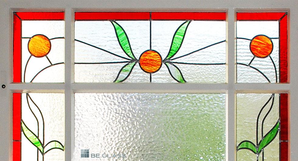 ORANGE Treppenhausfenster