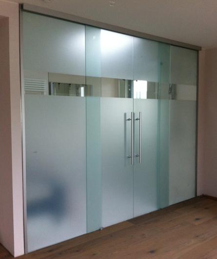 glasschiebet ren mit seitenteilen f r gro e durchg nge und wand ffnungen nach ma berlin glas. Black Bedroom Furniture Sets. Home Design Ideas