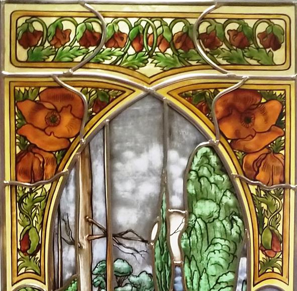 DIE NACHT - Glasmalerei