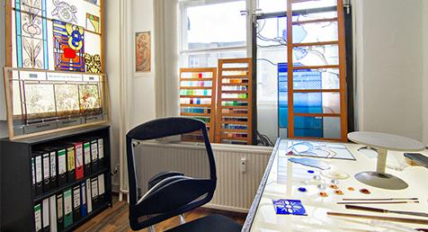 Glasmalerei-Atelier