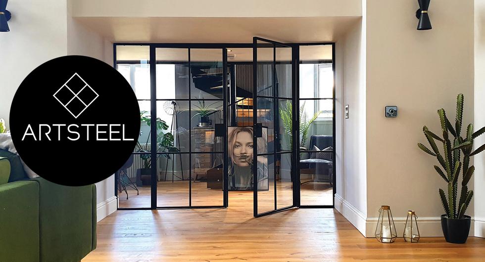 Industrielook Türen aus Stahl und Glas